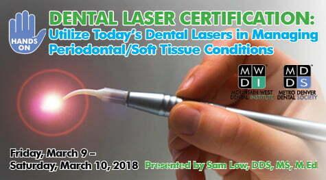 MDDS Presents: HANDS-ON Dental Laser Certification