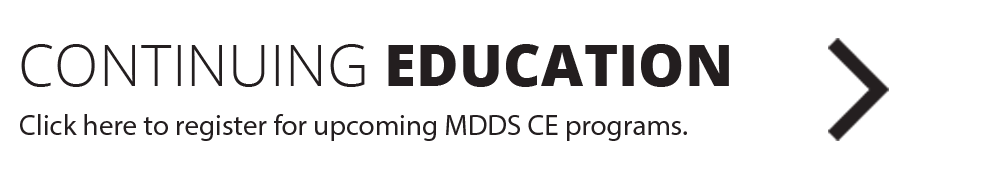 Image linking to the Metro Denver Dental Society (MDDS) continuing education course calendar.