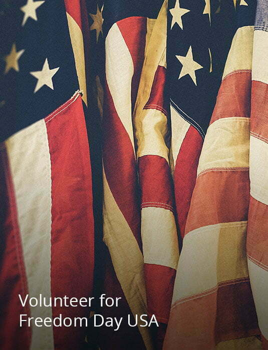 Image links to info about volunteering for Freedom Day USA