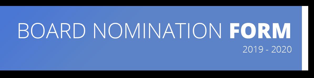 2018 - 2019 MDDS Board of Directors Nomination Form