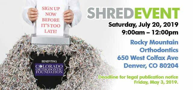 MDDS Shred Event 2019 - Metro Denver Dental Society
