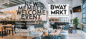 Oct New Member Welcome Event Oct 10 Broadway Market