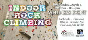 indoor rock climbing cda mdds wellness event