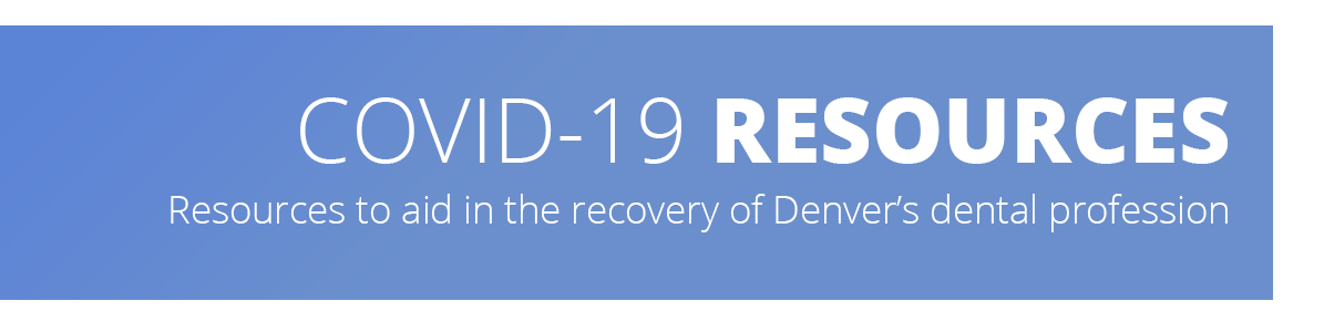 Image describes this page contains resources for dental practice recovery from COVID-19.