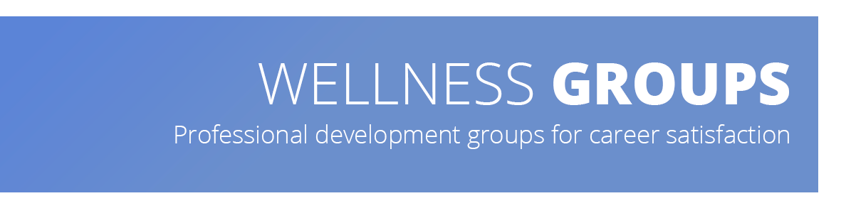 Image describes that the web page contains information on two wellness groups at MDDS - Mindful Dentist and Empowered Dentist